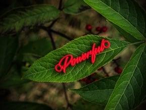 Powerful Pendant - Vivid colors in Red Processed Versatile Plastic