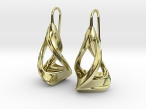 Trianon T.1, Earrings in 18k Gold Plated Brass