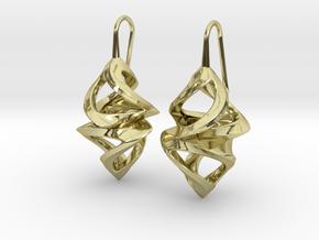 Trianon Twins, Earrings in 18k Gold Plated Brass