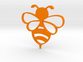 Honey bee pendent in Orange Processed Versatile Plastic