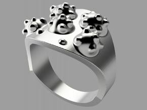 """""""Virus"""" Ring in Polished Silver"""