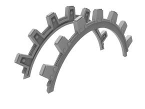 Shoulder Pad Topper - Cogs (2pcs) in Smoothest Fine Detail Plastic