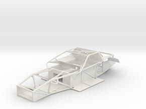 02-A 1987-8 IMSA GTO/SCCA Trans Am Corvette in White Natural Versatile Plastic