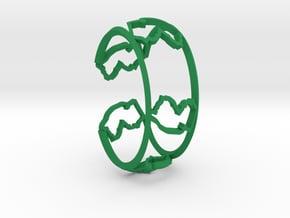 New Jersey Bracelet in Green Processed Versatile Plastic