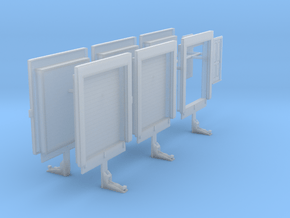 1/87th Truck or warehouse loading doors in Smooth Fine Detail Plastic