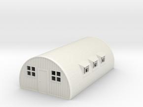 1/100th scale Nissen hut in White Natural Versatile Plastic