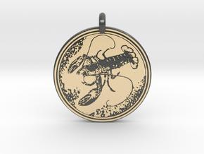 American Lobster  Animal Totem Pendant in Glossy Full Color Sandstone