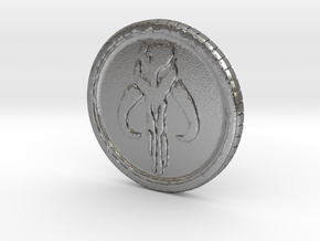 Star wars Sabacc Solo Mandalorian Bounty coin cred in Natural Silver