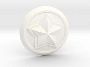 Poppy Star Guardian Pin in White Processed Versatile Plastic
