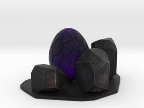 Purple dragon egg scene 1 in Natural Full Color Sandstone
