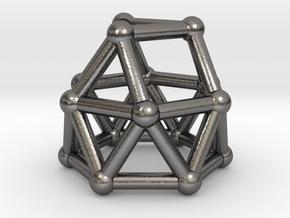 0780 J22 Gyroelongated Triangular Cupola #2 in Polished Nickel Steel