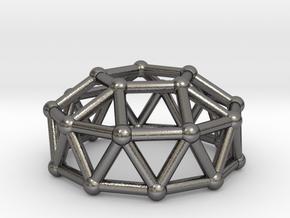 0787 J24 Gyroelongated Pentagonal Cupola #3 in Polished Nickel Steel