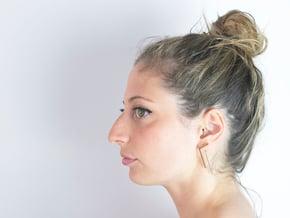 Minimal Elle Earrings in Polished Bronze