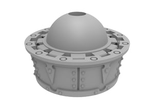 Armored Torso Extension Unit in Smooth Fine Detail Plastic