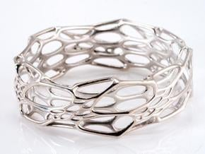 Morph Bangle in Polished Silver: Medium