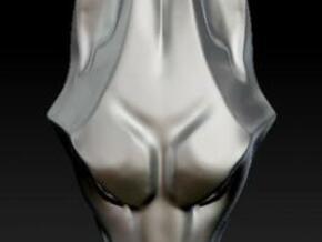 Wolf Head Pendant in Polished Bronze Steel
