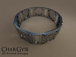 Bangle - Suspended Coin in Smooth Fine Detail Plastic