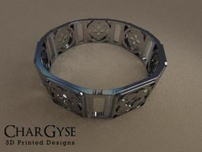 Bangle - Eight Petals Crossed in Smooth Fine Detail Plastic