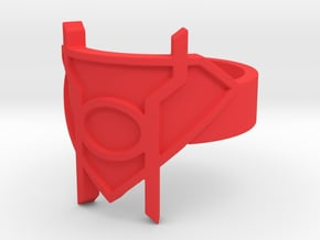 Supergirl Red Lantern Ring  in Red Processed Versatile Plastic: 10 / 61.5