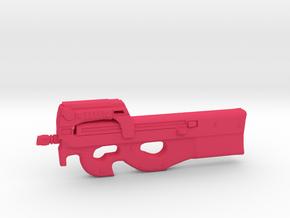 P90 gun  in Pink Processed Versatile Plastic