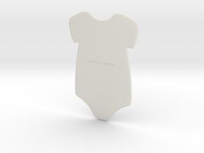 3D Star Onesie in White Natural Versatile Plastic