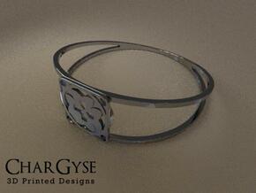 Elegant Bangle - Eight Petals Crossed in Smooth Fine Detail Plastic
