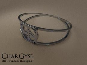 Elegant Bangle - Four Petal Flow in Smooth Fine Detail Plastic