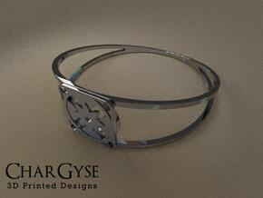 Elegant Bangle - Eight Petal Floating in Smooth Fine Detail Plastic