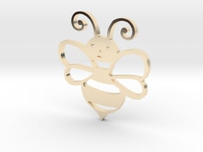 Cute Honey bee in 14k Gold Plated Brass