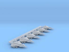 Omni Scale Federation F-12 Fast Fighters MGL in Smooth Fine Detail Plastic