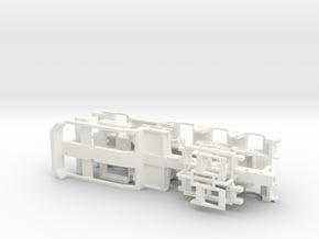 1/87 4-axles Trailer Ver.1 in White Processed Versatile Plastic