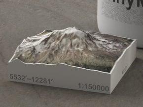 Mt. Adams, Washington, USA, 1:150000 Explorer in Natural Full Color Sandstone
