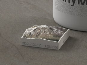 Mt. Adams, Washington, USA, 1:250000 Explorer in Natural Full Color Sandstone
