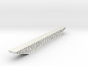 Trestle N (1:160) Six Piles Bridge With Deck Rigid in White Natural Versatile Plastic