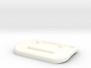 4x UFO Invader Detail in White Processed Versatile Plastic