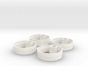 EngineRearCap in White Processed Versatile Plastic