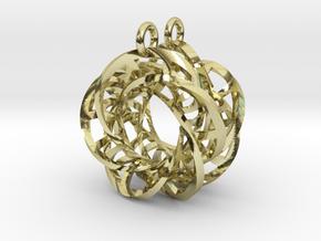 5,4 Torus Knot Ladder Earrings in 18k Gold Plated Brass