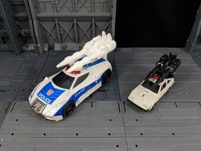 TF Combiner Wars Streetwise Car Cannon in White Natural Versatile Plastic