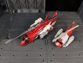 TF Combiner Wars Blades Helicopter Cannons in White Natural Versatile Plastic