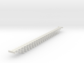 Trestle N (1:160) Six Piles Bridge in White Natural Versatile Plastic