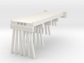 Part A Deck Trestle N (1:160) Modular Six Piles in White Natural Versatile Plastic
