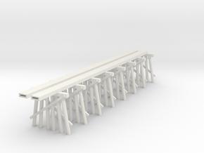 Part C Trestle N (1:160) Modular Six Piles in White Natural Versatile Plastic