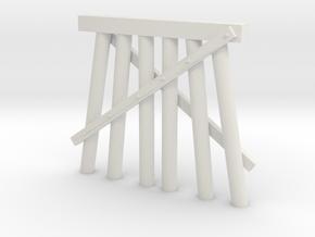 Part E Trestle N (1:160) Modular Six Piles in White Natural Versatile Plastic