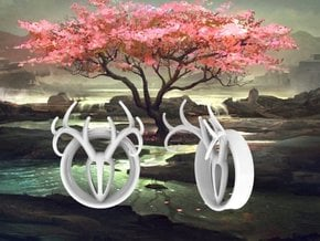 1 & 13/16 inch Antler Tunnels in White Processed Versatile Plastic