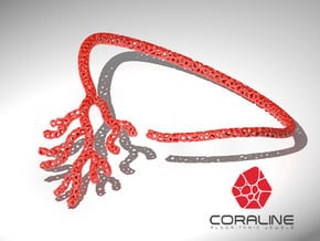 Red Coral Necklace in Red Processed Versatile Plastic
