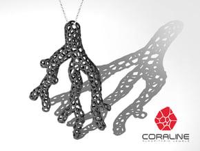 Red Coral Pendant in White Processed Versatile Plastic
