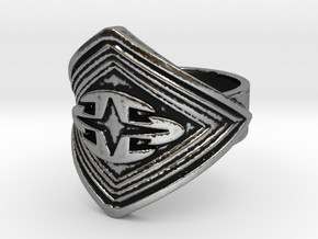 Cross signet Ring  in Antique Silver: 6 / 51.5