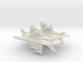1-300 MiG-21bis 'Fishbed-N' x4 in White Natural Versatile Plastic