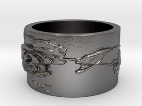 Hummingbird v2 Ring  in Polished Nickel Steel: 4 / 46.5