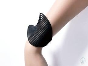 VEIN Cuff Bracelet in Black Natural Versatile Plastic: Small